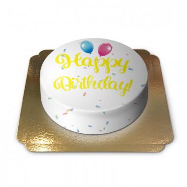 Gâteau d'anniversaire - jaune
