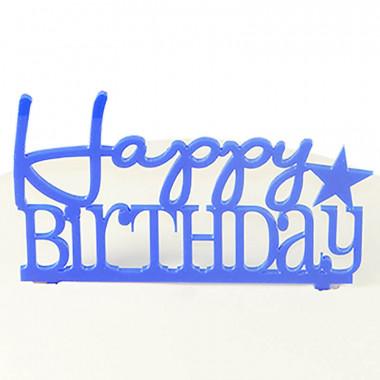 Décoration Happy Birthday, couleur bleue
