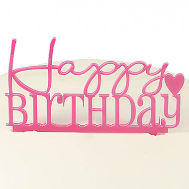 Décoration Happy Birthday, couleur rose