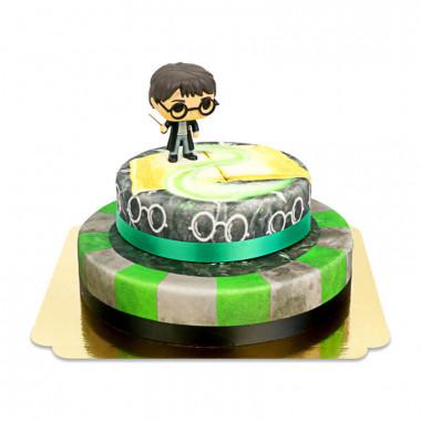Harry Potter sur gâteau Basilique à 2 étages