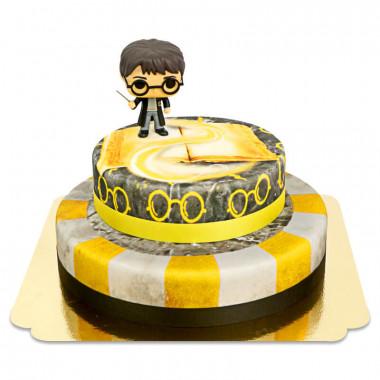 Harry Potter sur gâteau Blaireau à 2 étages