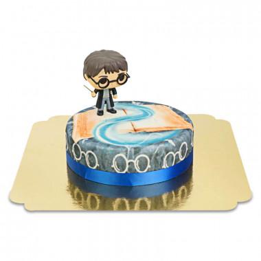 Harry Potter sur gâteau Magique bleu