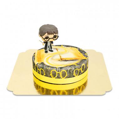 Harry Potter sur gâteau Magique jaune
