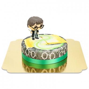 Harry Potter sur gâteau Magique vert