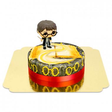 Harry Potter sur gâteau Magique rouge