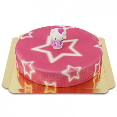 Hello Kitty sur gâteau étoiles