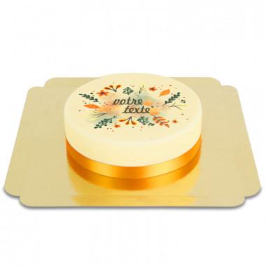 Gâteau avec des décorations d'automne