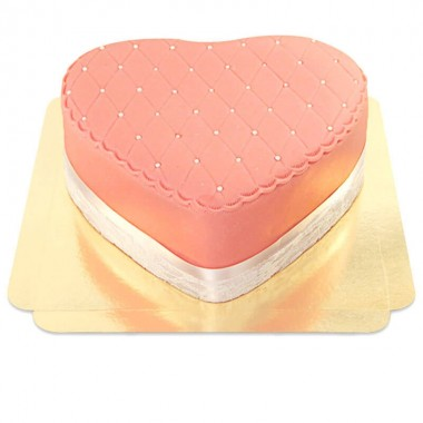 Gâteau coeur Saint-Valentin Deluxe Rose