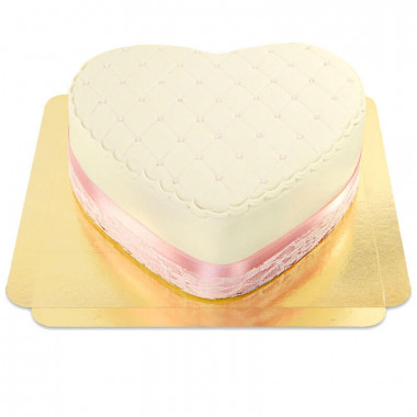 Gâteau coeur de la Saint-Valentin Deluxe blanc
