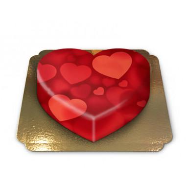 Gâteau-Coeur en forme de coeur