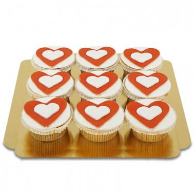 Cupcakes coeurs