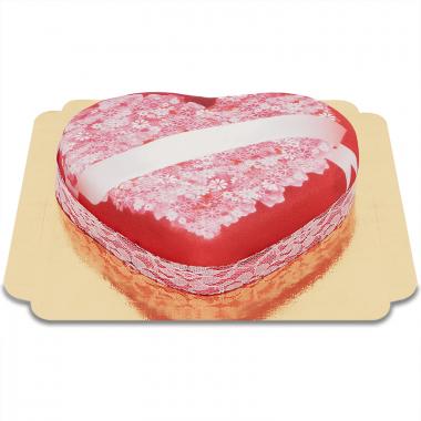 Gâteau à Message d'Amour Coeur