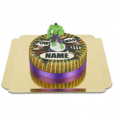 Gâteau Comic avec figurine Hulk