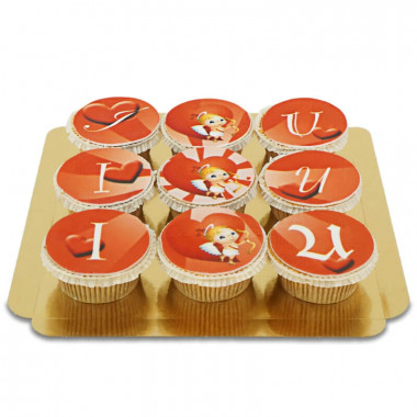 I love U Cupidon Cupcakes