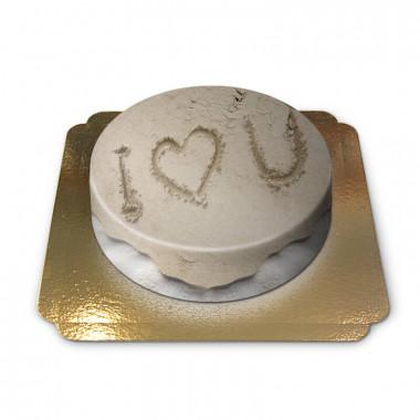Gâteau sable amour