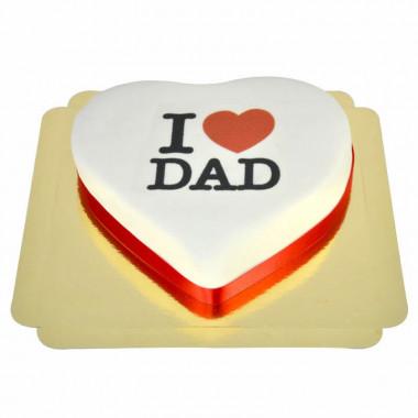 "Gâteau Coeur ""I love Dad"""