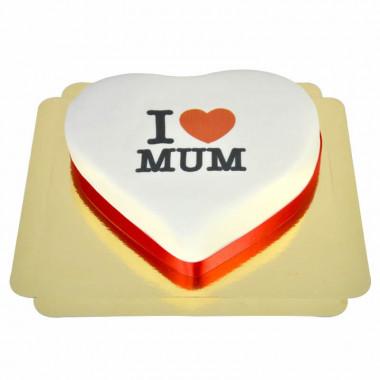 """Gâteau Coeur """"I love Mum"""""""