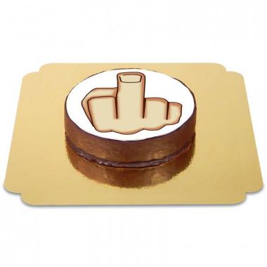 Gâteau Sacher Doigt d'honneur
