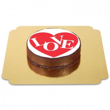 Gâteau Sacher Coeur Love