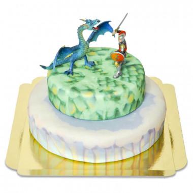 Gâteau Fantasy avec Figurine de Dragon