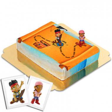 Gâteau Pirates Jake & Izzy au Pays Imaginaire