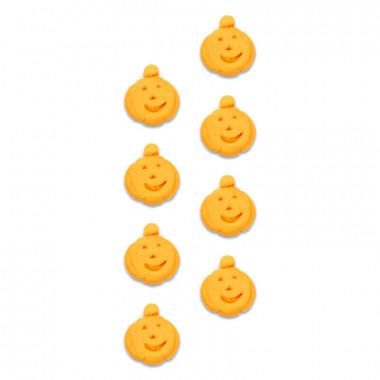 Décorations citrouilles en sucre (8 pièces)