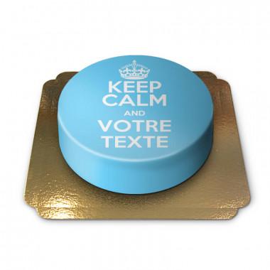 """Gâteau bleu """"Keep Calm and ..."""""""