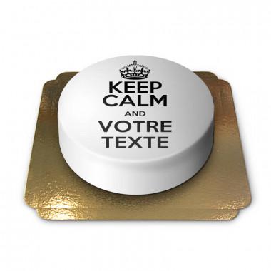 "Gâteau blanc ""Keep Calm and ..."""