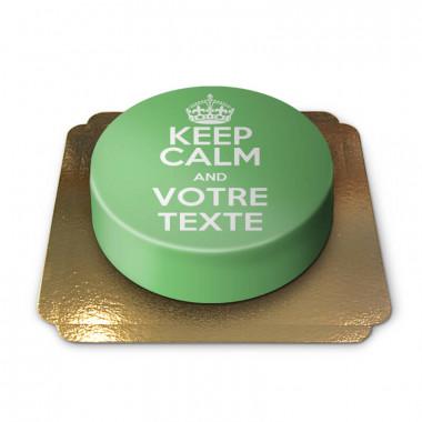 """Gâteau vert """"Keep Calm and ..."""""""