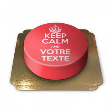 """Gâteau rouge """"Keep Calm and ..."""""""