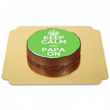 "Gâteau Sacher ""Keep Calm and Papa on"""