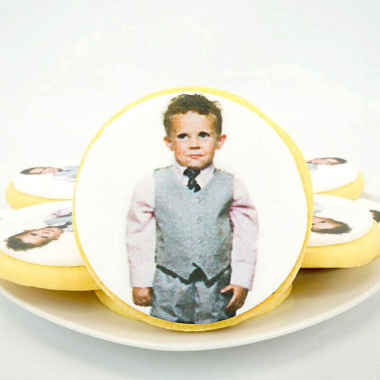 Biscuits photos ronds (12 pièces)