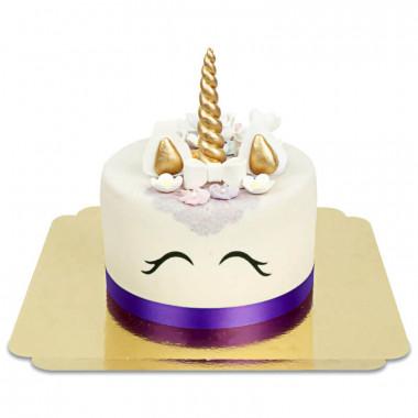 Gâteau Licorne Violette