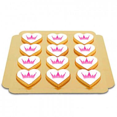 Biscuits coeur avec logo (12 pièces)
