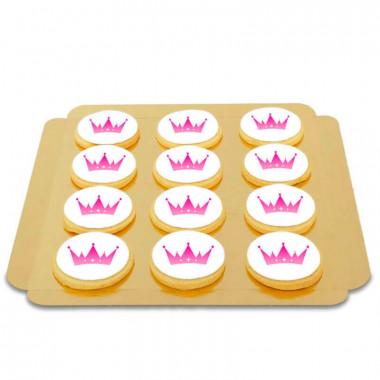Biscuits ronds avec logo (12 pièces)