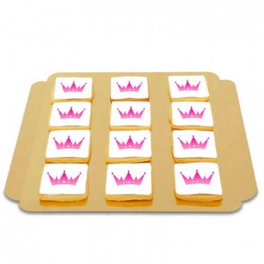 Biscuits carrés avec logo (12 pièces)