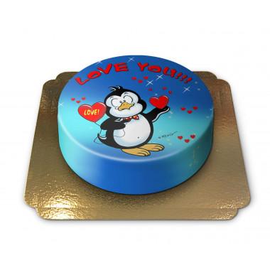 Gâteau Pingouin Love
