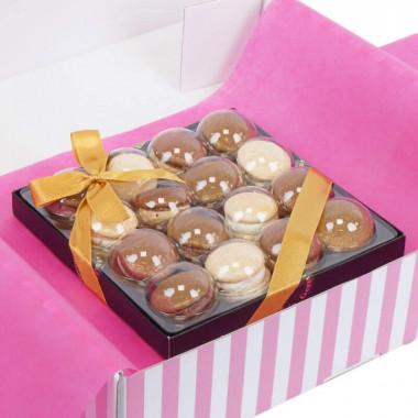 Macarons dorés de Noël (16 pièces)