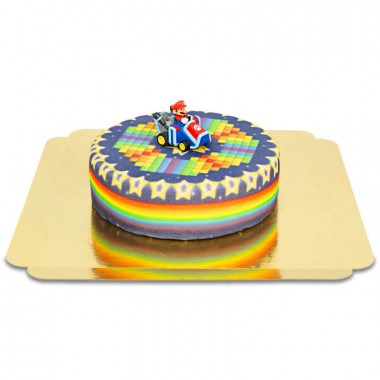 Mario Kart sur gâteau Route aux étoiles