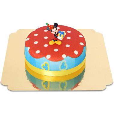 Mickey Mouse sur son Gâteau de Fête