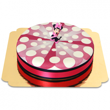 Minnie sur gâteau à rubans