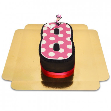 Gâteaux-chiffres avec figurine Minnie