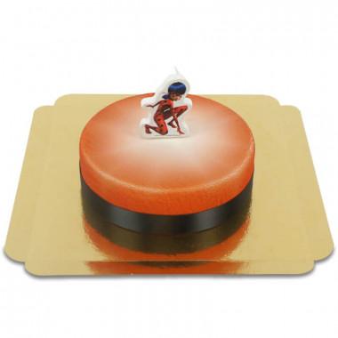 Bougie Miraculous sur Gâteau