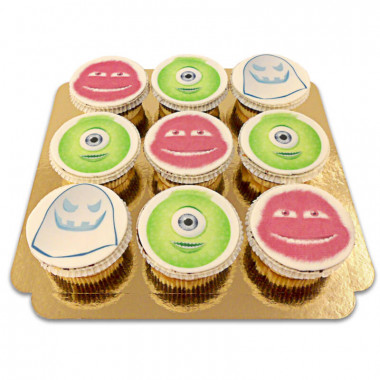 9 Cupcakes Monstres