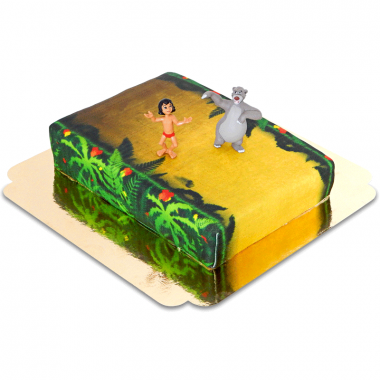 Mowgli & Baloo sur gâteau jungle