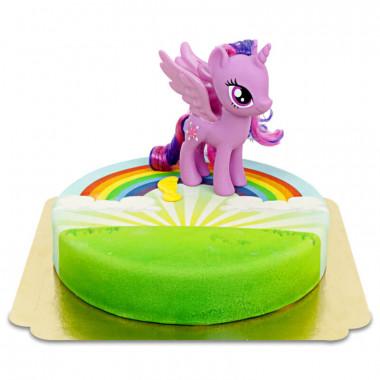 Gâteau arc-en-ciel avec figurine Twilight Sparkle My little Pony