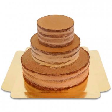Naked Cake au chocolat - 3 étages