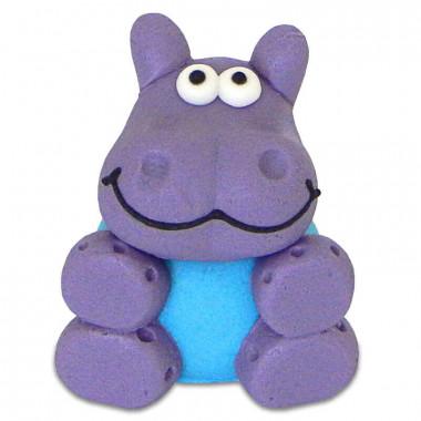 Hippopotame en pâte d'amande