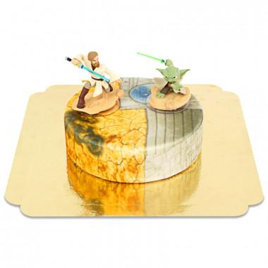 Obi-Wan Kenobi & Maître Yoda sur un gâteau Clone Wars