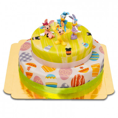 Gâteau de Pâques avec les Héros Disney à 2 étages
